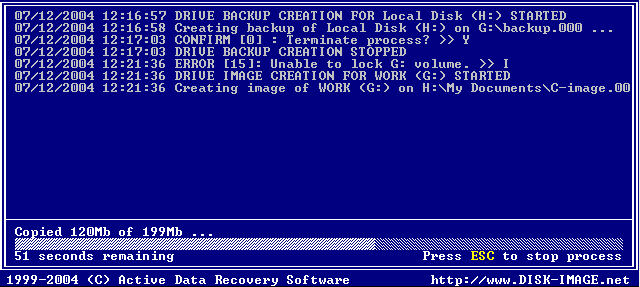 Disk Image software