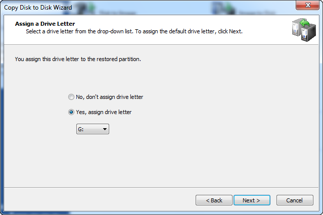 Disk Image software.Assign a Drive Letter