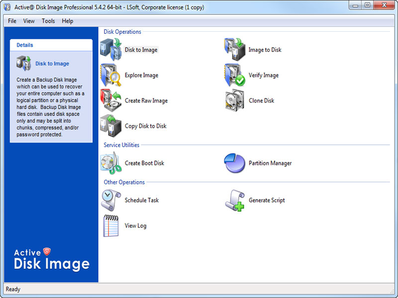 Click to view Active@ Disk Image 5.4.2 screenshot