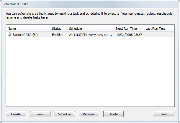 Disk Image: Rescheduling a Task